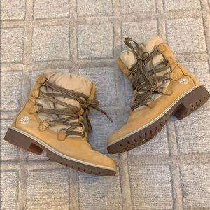 Timberland Tan Puff Snow Boots